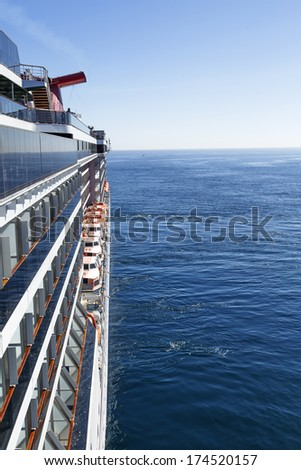 Luxury cruise ship at sea