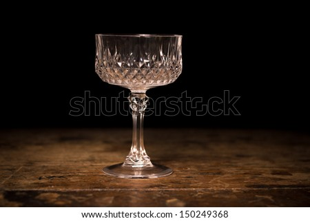 Luxury crystal cocktail glass