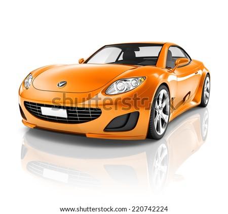 Luxury 3D Sports Car - stock photo