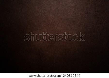 Luxury dark brown leather background - stock photo