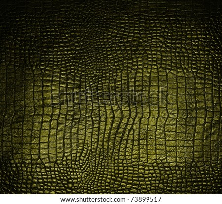 luxury dark crocodile texture - stock photo