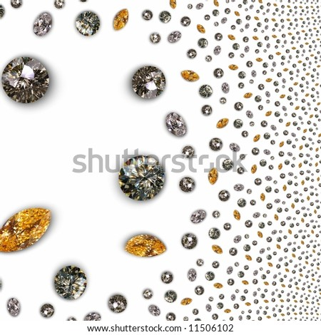 Luxury diamond texture - background white
