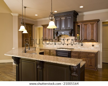 Luxury Diamond tile Kitchen front view