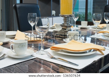 Luxury dining table