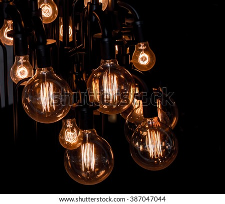 luxury edison retro light lamp - stock photo