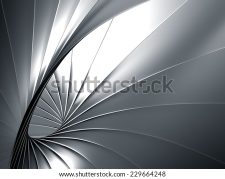 Luxury elegance abstract metal background 3d illustration - stock photo