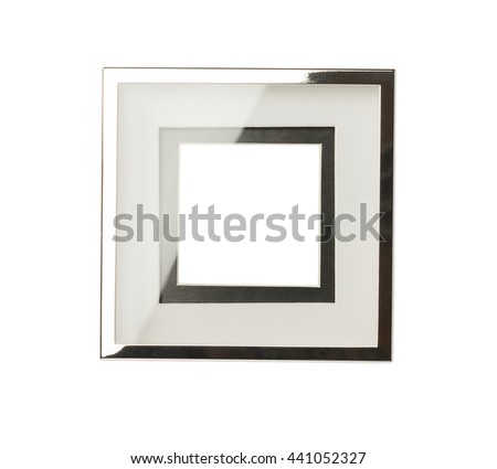 Luxury empty picture frame isolated on white background
