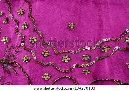 luxury fabric - stock photo