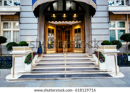 Perfect Luxury Five Star Hotel Entrance Door, Most Expensive Hotel In London Uk