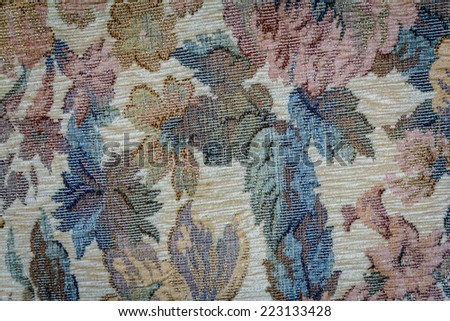 Luxury Flower Fabric Texture Background - stock photo