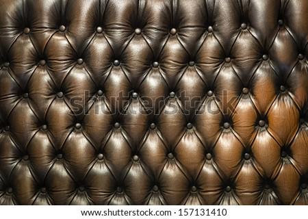 Luxury Furniture, Genuine leather- sofa texture - stock photo