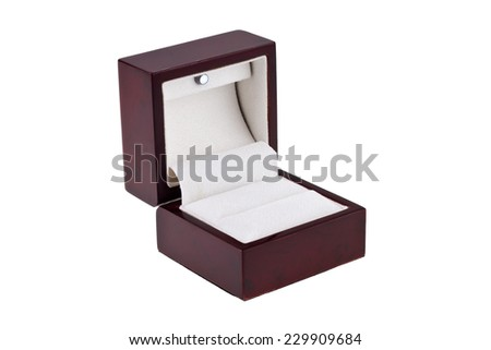 Luxury gift box, isolated on white background.  - stock photo
