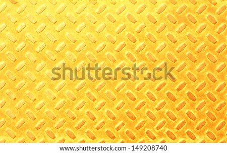 Luxury golden color diamond steel plate background texture - stock photo