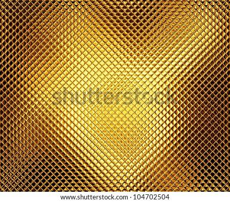 Luxury golden mosaic - stock photo
