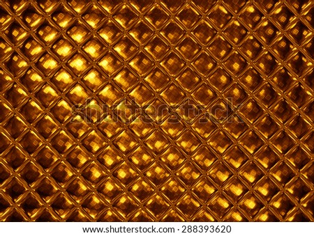 Luxury golden mosaic, abstract gold tile - stock photo