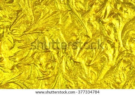 Luxury golden texture. Hi res background. - stock photo