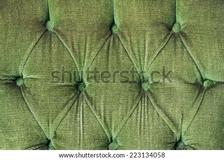 Luxury Green Buttoned Texture Background - stock photo