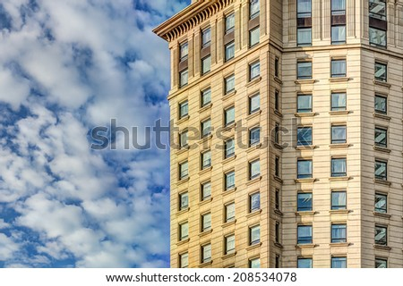Luxury high vintage building - stock photo