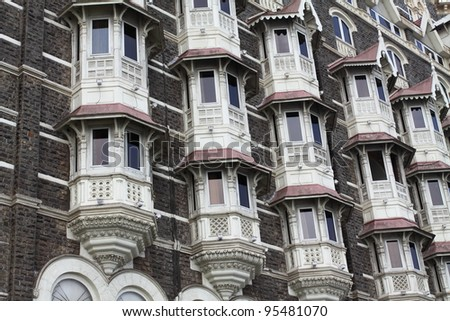 luxury historic hotel Taj Mahal Palace in Mumbai ( formerly Bombay ), India, Asia - stock photo