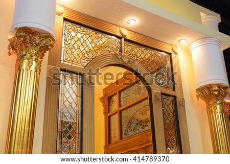 luxury home at night - stock photo