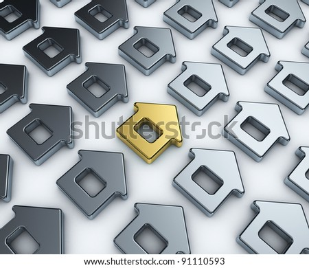Luxury Home. Concept. 3d illustration. Best house - stock photo