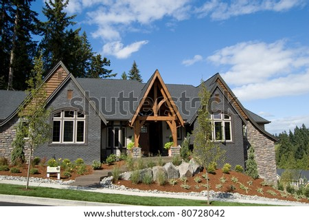 Luxury Home Exterior - stock photo