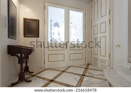 Luxury hotel entrance - stock photo