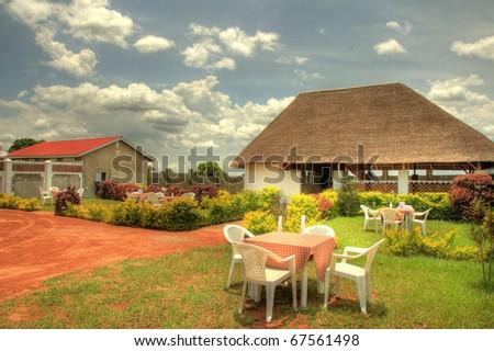 Luxury Hotel in Uganda, Africa - stock photo