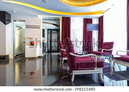 Luxury hotel lobby - stock photo