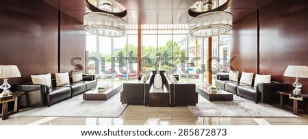 Luxury Hotel Lobby And Furniture