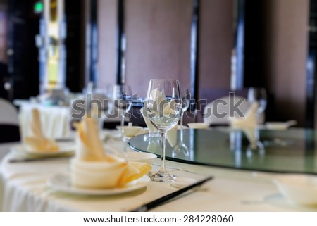 luxury hotel restaurant - stock photo