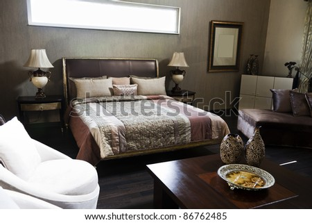 luxury hotel room - stock photo