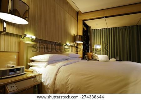 Luxury Hotel room Interior. - stock photo