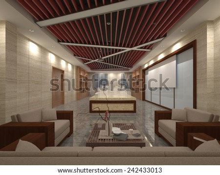 Luxury house 3D interior detail