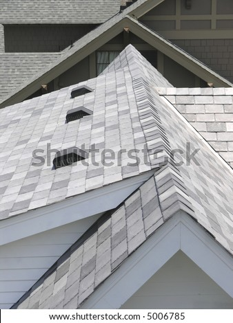 Luxury House with roof line - stock photo