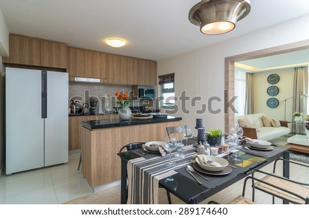 Luxury Interior kitchen, Dinning room