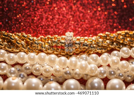 Luxury jewelry background