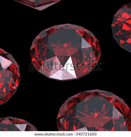 Luxury Jewelry Background with gemstones. Diamond.Garnet