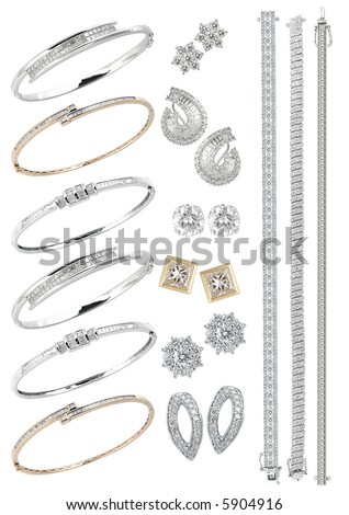 Luxury jewelry on a white background