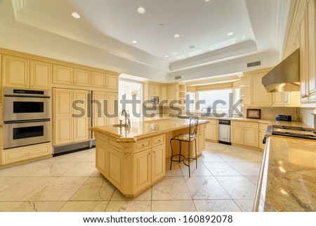 Luxury kitchen in a luxury house.