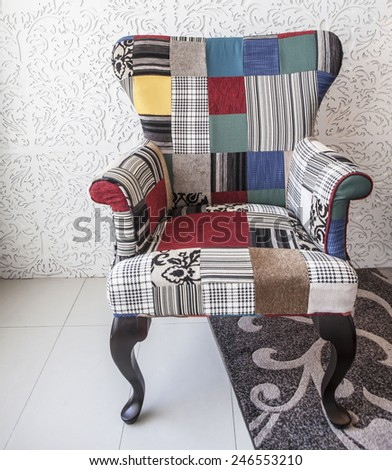 Luxury leather chair - stock photo
