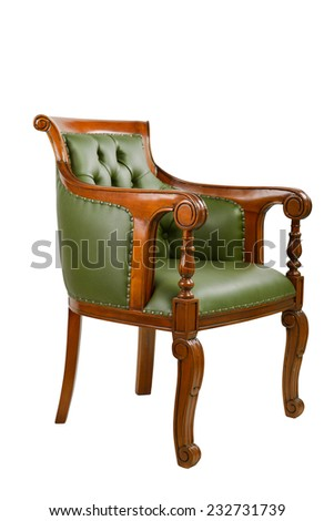luxury leather chairs. Luxury Leather Chair Isolated On White Background Chairs