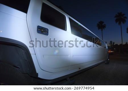 Luxury limo limousine night life  - stock photo