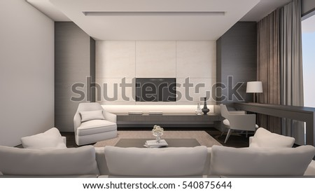 Luxury Living Room / 3D Rendering