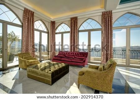 Luxury lobby for five stars hotel - stock photo