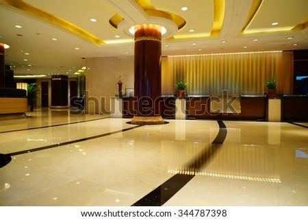 Luxury lobby interior. - stock photo