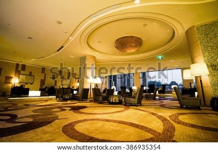 Luxury lobby lounge.  - stock photo