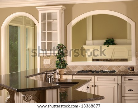Luxury Model Home Kitchen With Opening