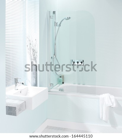 Luxury modern bathroom  - stock photo