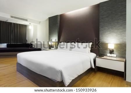 Luxury Modern Hotel Room Bangkok Thailand Stock Photo